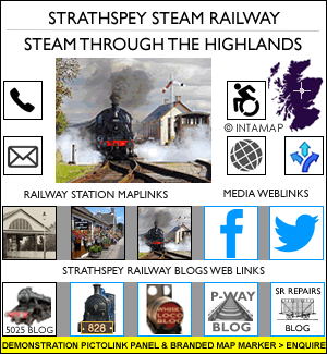Strathspey Railway PictoLinks™ information panel